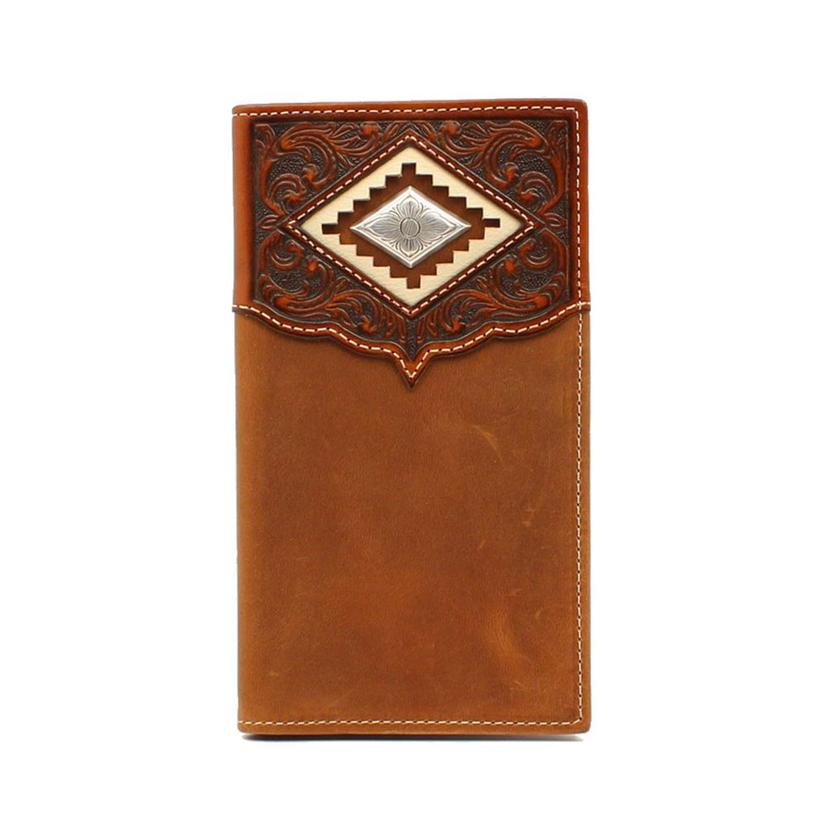 Ariat Brown Diamond Concho Rodeo Wallet