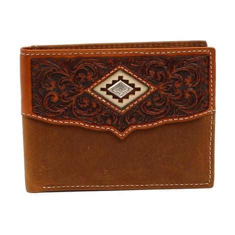 Ariat Brown Diamond Concho Bifold Wallet