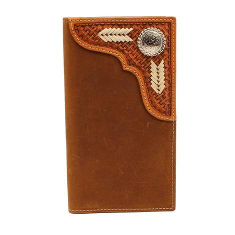 Nocona Brown Basketweave Rodeo Wallet