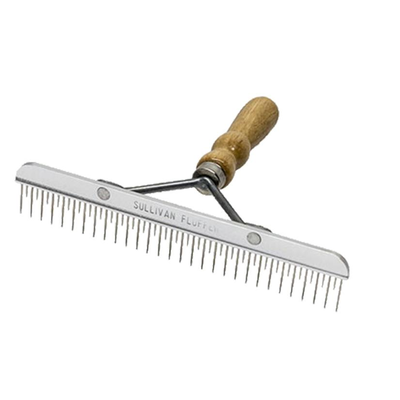 Sullivan Stimulator Fluffer Comb With Wood Handle