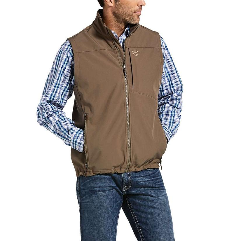 Ariat Logo Softshell Brown Camo Men's Vest