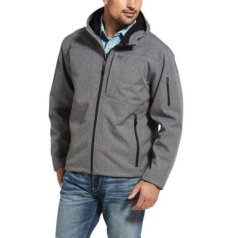 Ariat Vernon Hooded Softshell Charcoal Grey Men's Jacket