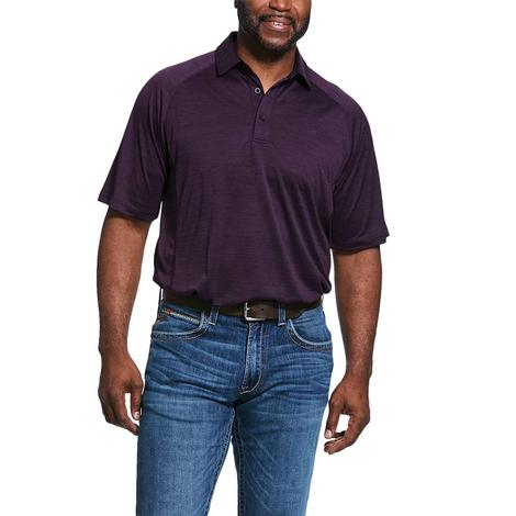 Ariat Charger Polo Dark Purple Short Sleeve Men's Shirt