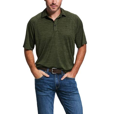 Ariat Charger Olive Polo Short Sleeve Men's Shirt