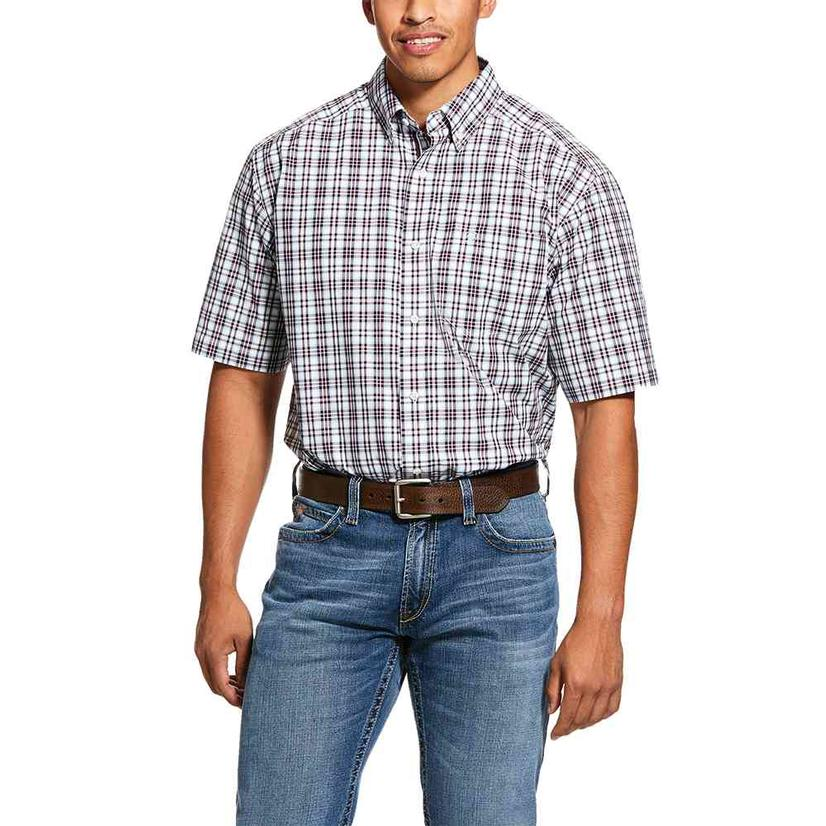 Ariat Leeds Multi Plaid Short Sleeve Buttondown Men's Shirt