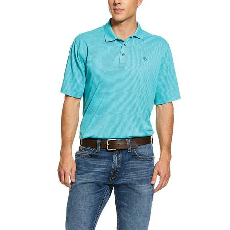 Ariat Fade Tek Polo Emerald Short Sleeve Men's Shirt