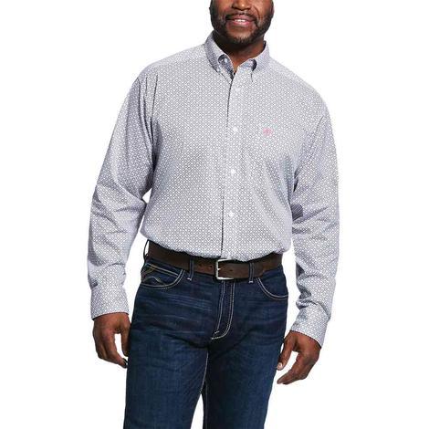 Ariat Randall White Print Long Sleeve Buttondown Men's Shirt