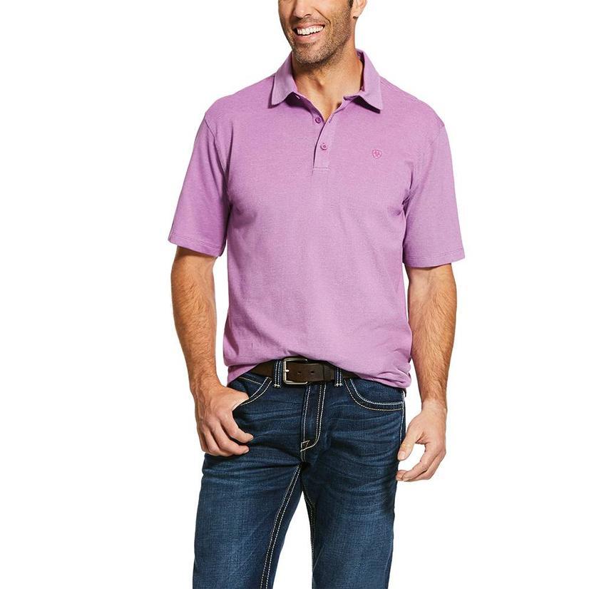 Ariat Pique Tek Polo Hidden Orchid Men's Shirt