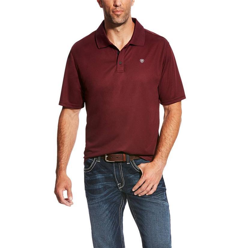 Ariat Tek Polo Maroon Short Sleeve Men's Shirt