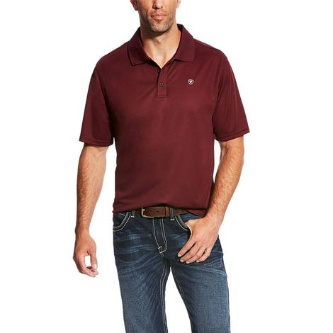 Ariat Tek Polo Maroon Short Sleeve Men's Shirt
