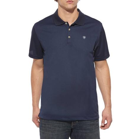 Ariat Tek Polo Navy Short Sleeve Men's Shirt