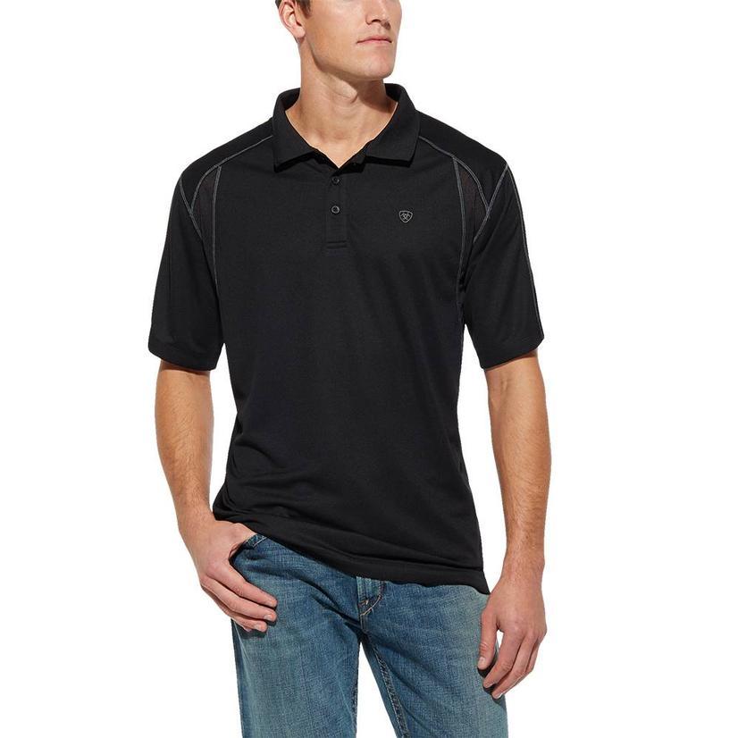 Ariat Ac Polo Black Short Sleeve Men's Shirt