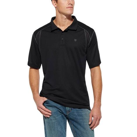 Ariat AC Polo Black Short Sleeve Men's Shirt