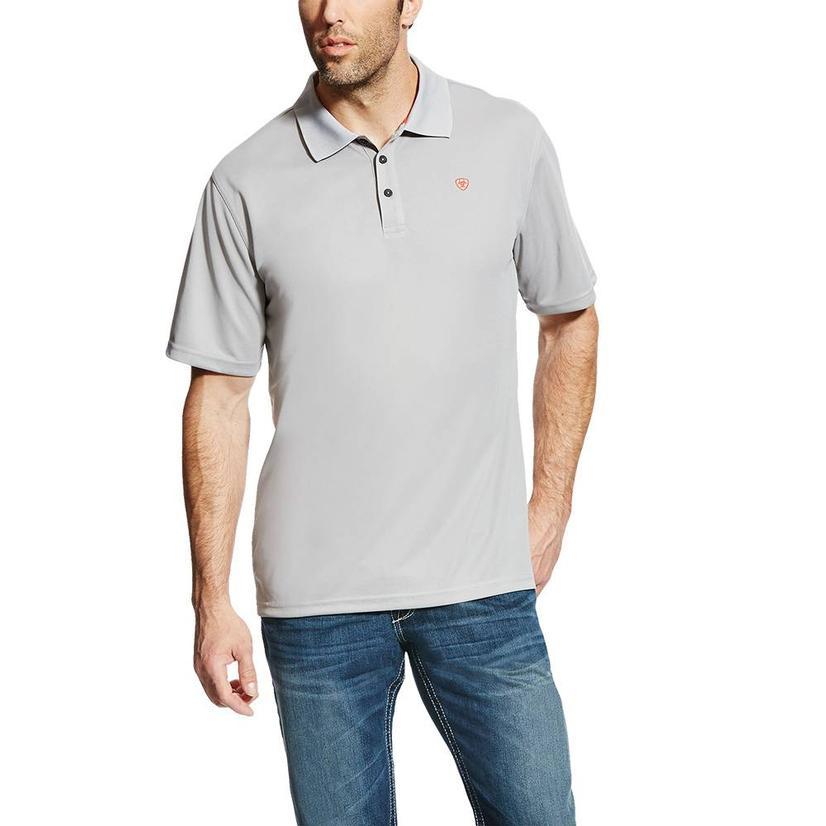 Ariat Tek Polo Silver Short Sleeve Men's Shirt