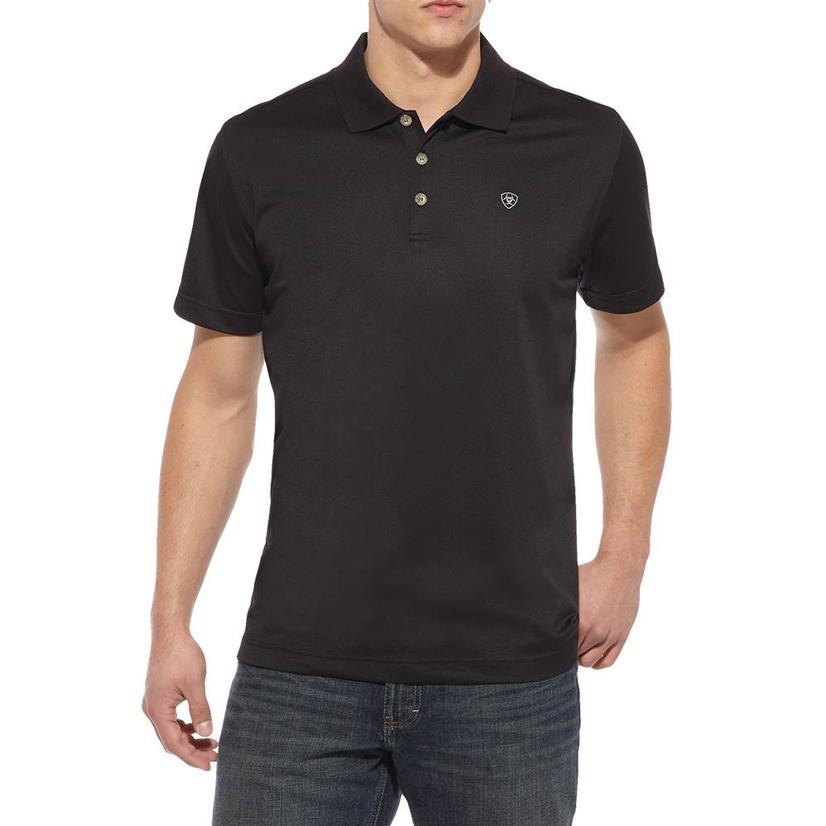 Ariat Tek Polo Black Short Sleeve Men's Shirt