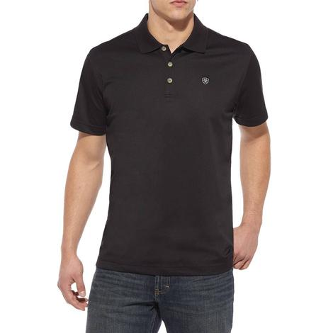 Ariat Tek Polo Black Short Sleeve Men's Shirt