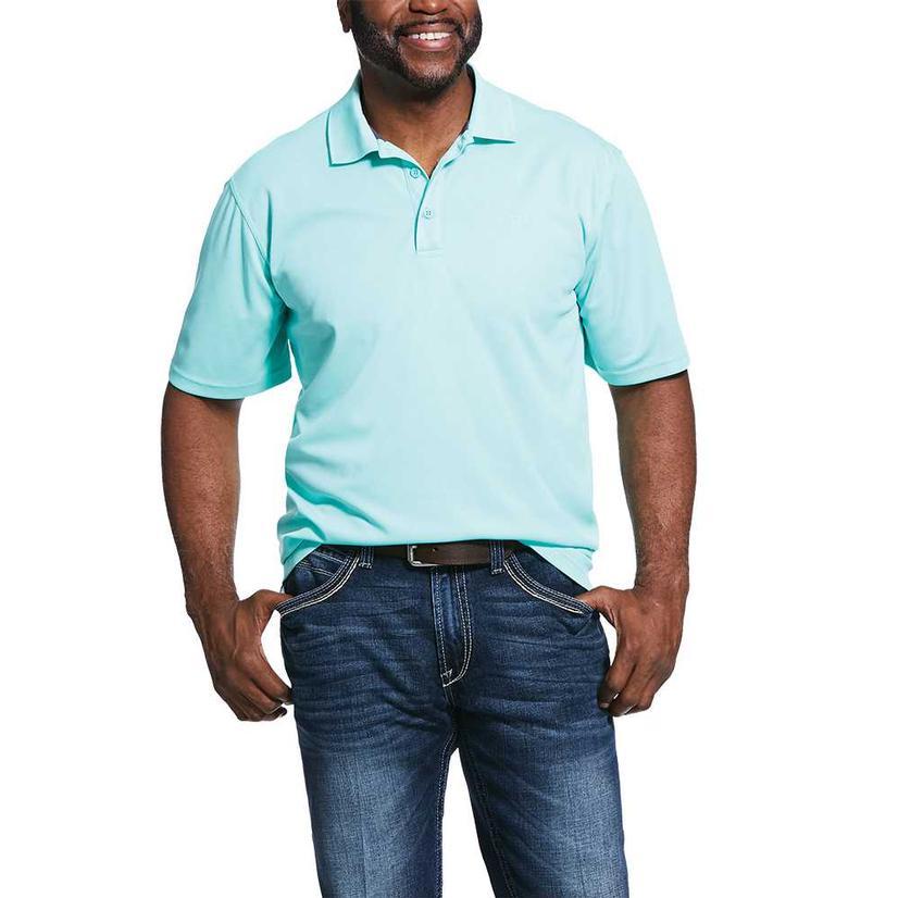 Ariat Tek Polo Aqua Short Sleeve Men's Shirt