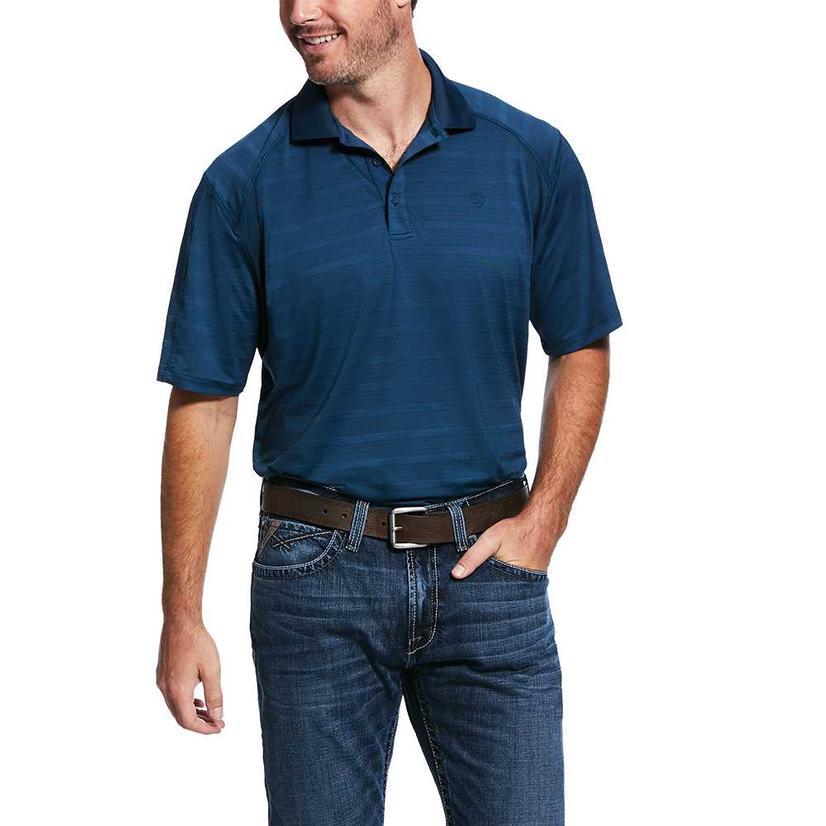 Ariat Polo Deep Blue Short Sleeve Men's Shirt