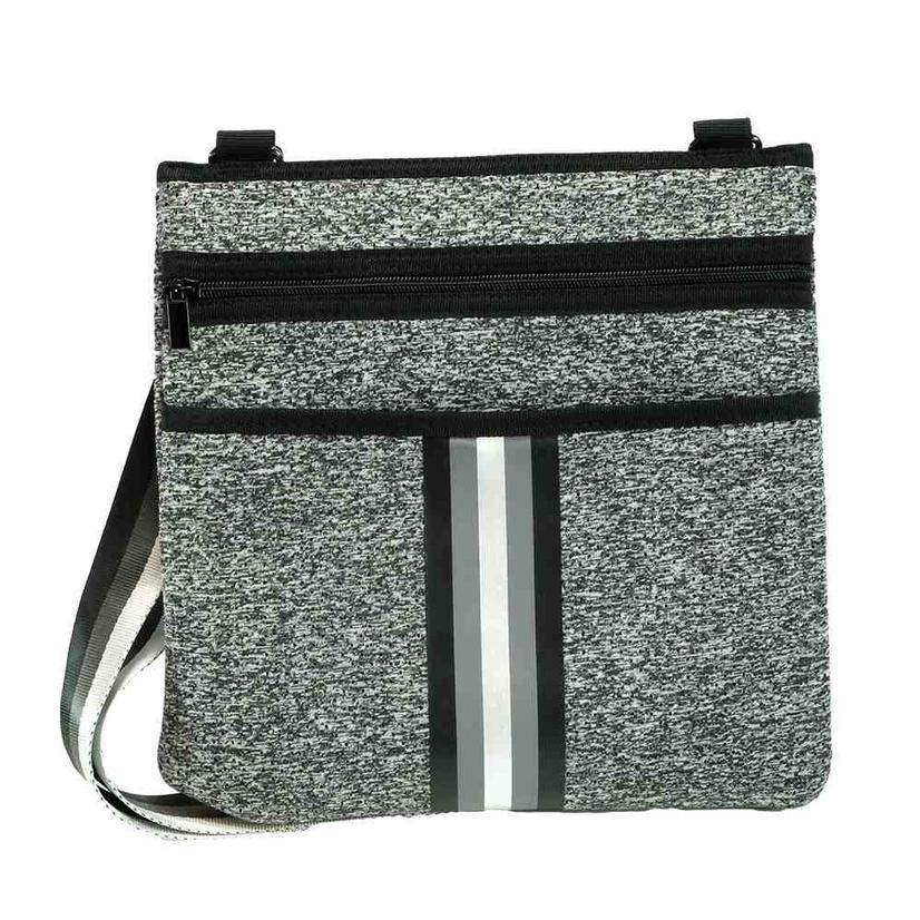 Haute Shore Peyton Cross Body City Grey And Black Bag