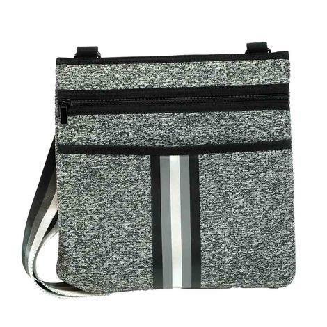 Haute Shore Peyton Cross Body City Grey and Black Bag
