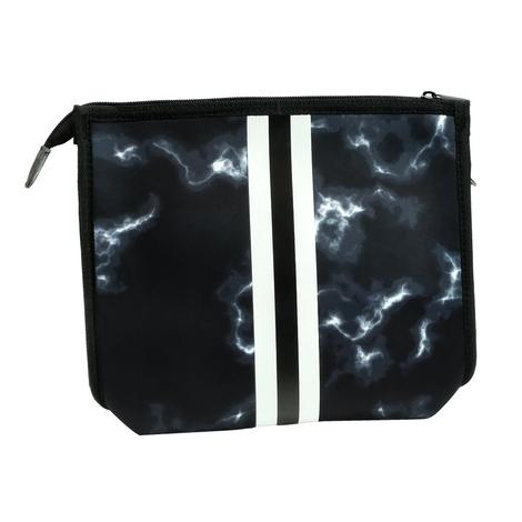 Haute Shore Mark Crossbody Racer Black Marble White Black Strip Bag