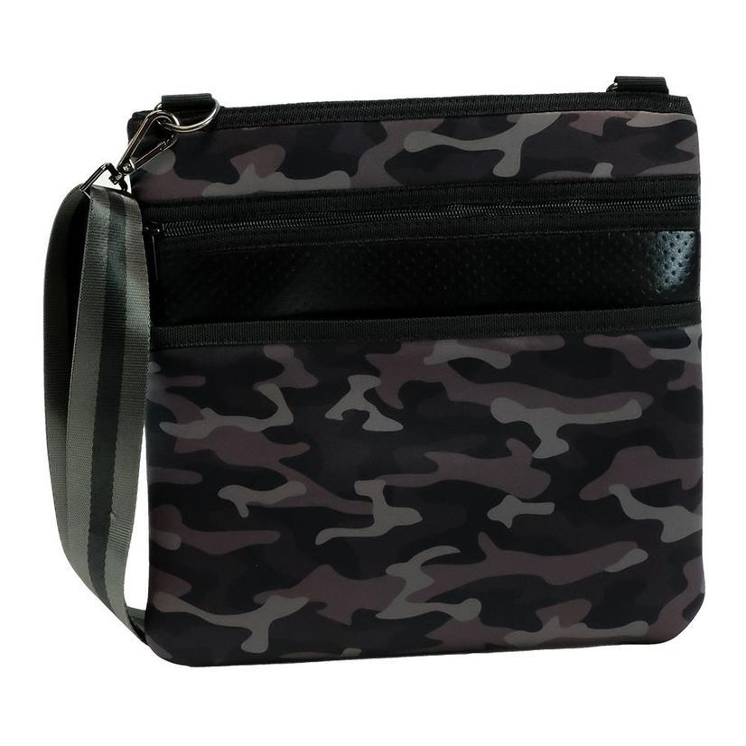 Haute Shore Peyton Crossbody Shadow Black Camo Black Stripe Bag