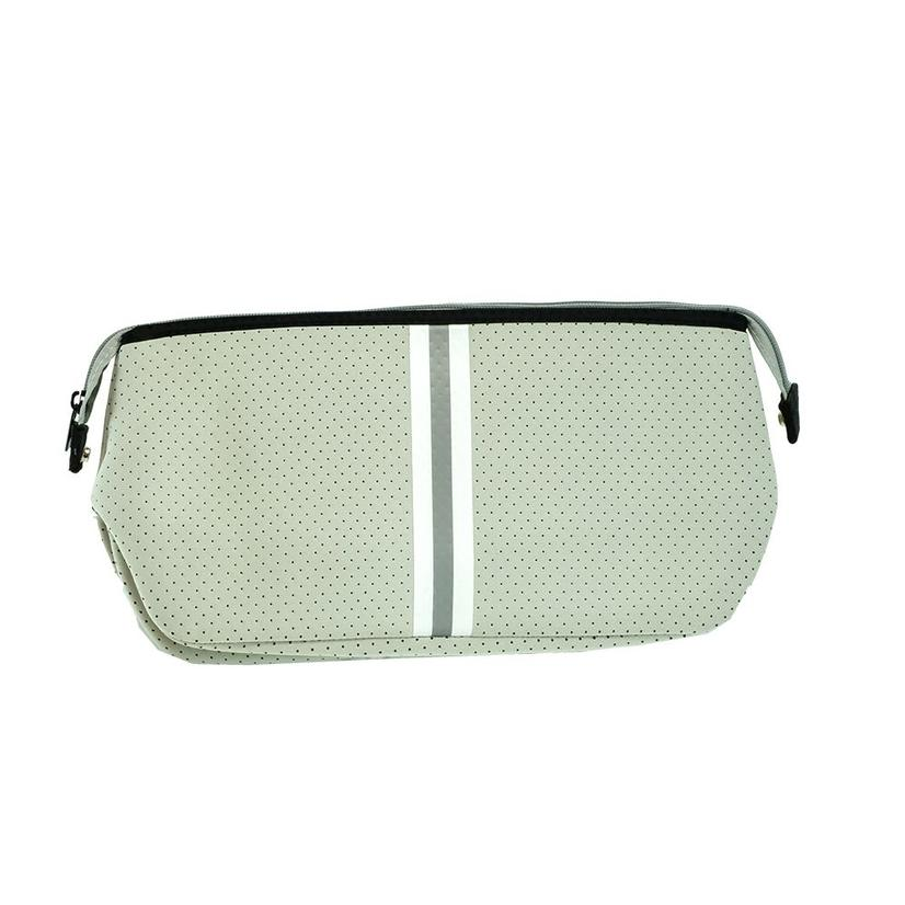 Haute Shore Kyle Toiletry Bag Putty White Grey Stripe