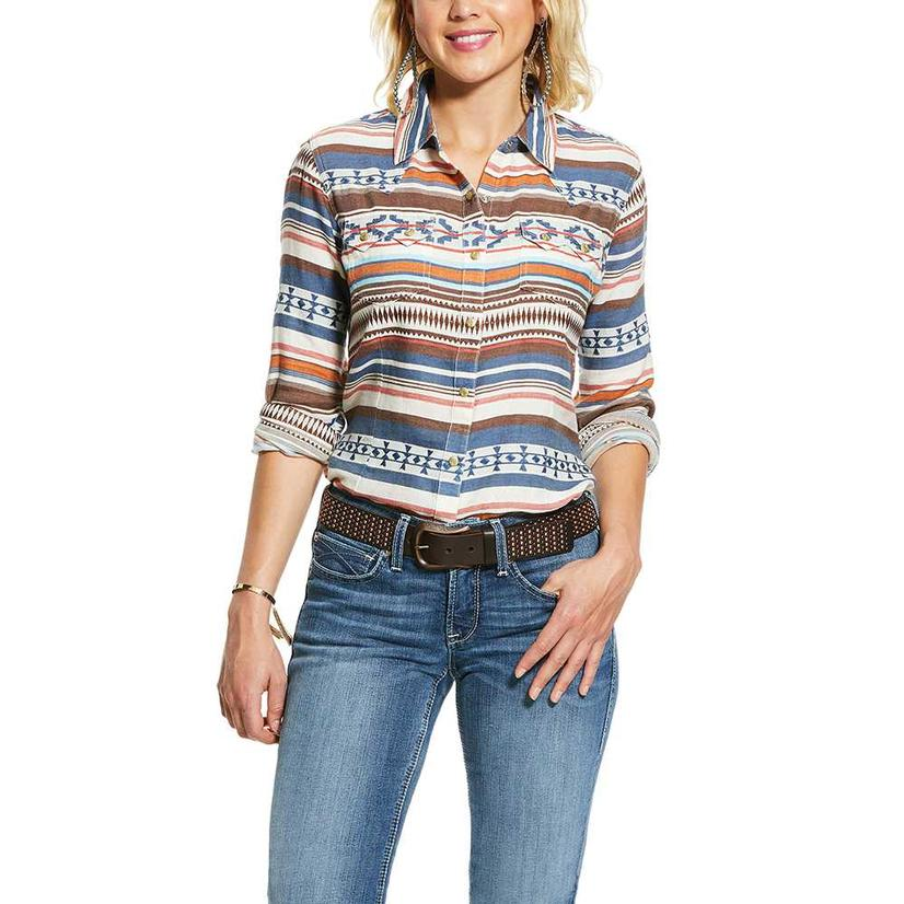 Ariat Real Tribal Print Long Sleeve Buttondown Women's Shirt