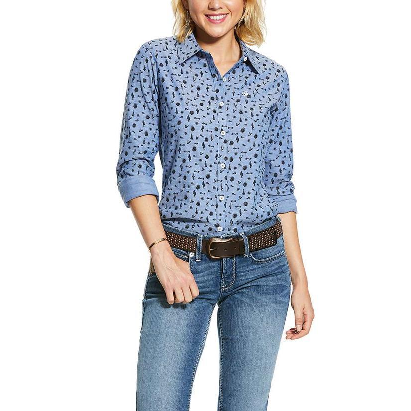 Ariat Desert Cactus Print Long Sleeve Buttondown Women's Shirt