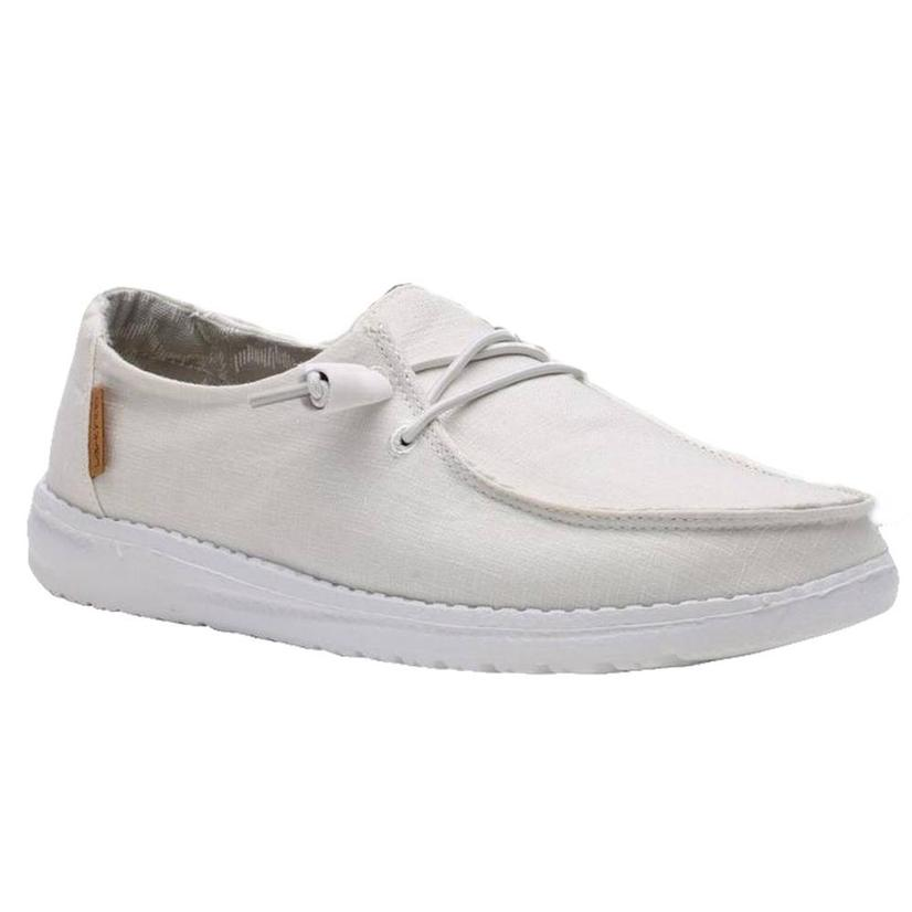 Hey Dude Wendy White Chambray Women's Shoes