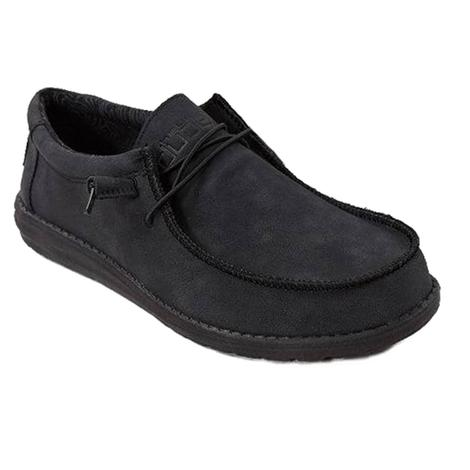 Hey Dude Wally Recycled Leather Carbon Mens Shoe