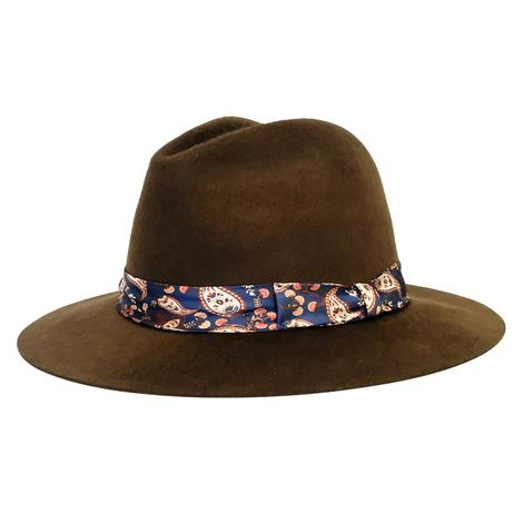 Wyeth Brown Francine Felt Hat