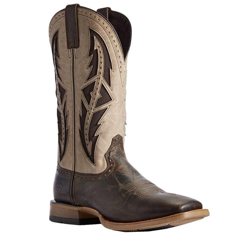 Ariat Cowhand Venttek Stout Brown Cream Men's Boots