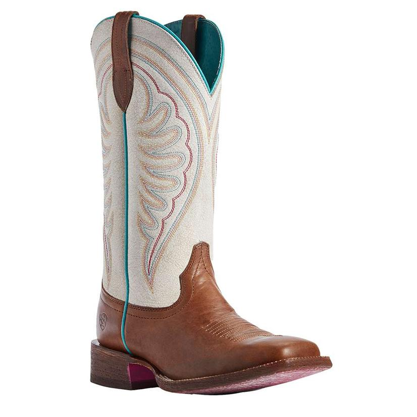 Ariat Circuit Shiloh Brown White Crackled Women's Boots