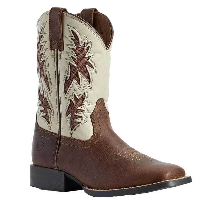 Ariat Cowboy Cognac And Cream Venttek Kid's And Youth Boots