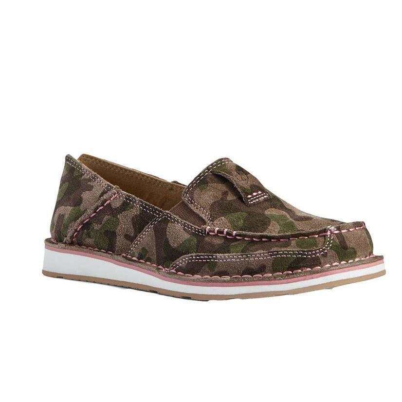 Ariat Camo Suede Cruiser Women's Slipon Shoes