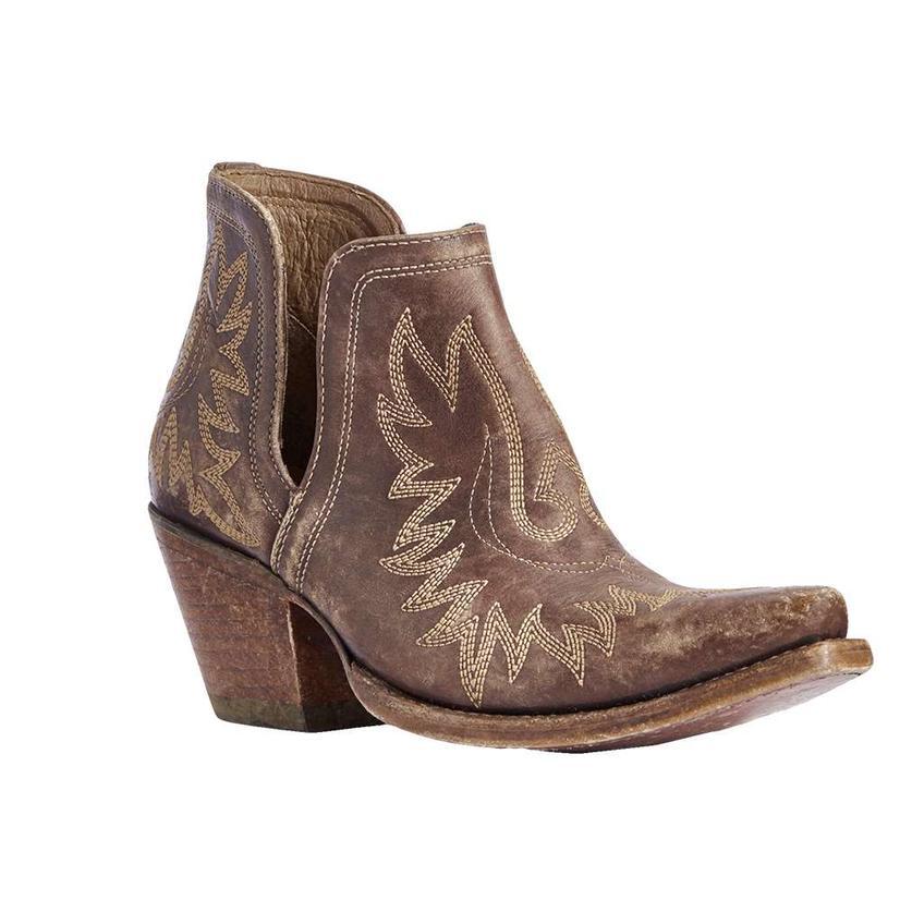 Ariat Dixon Destressed Brown Shortie Women's Boots