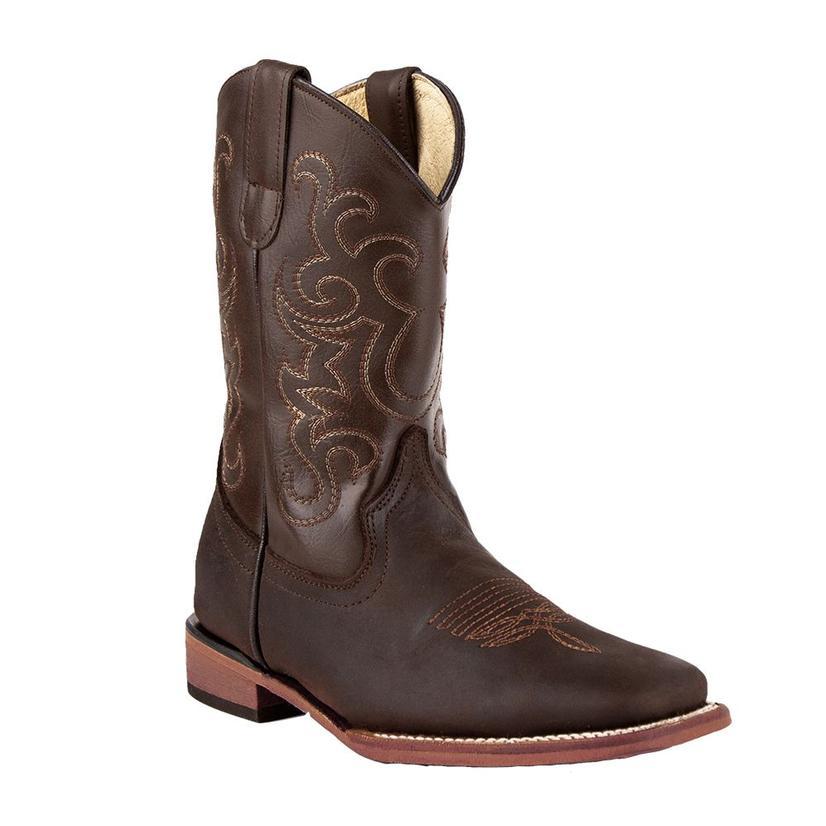 Ferrini Maverick Chocolate Leather Kid Boots