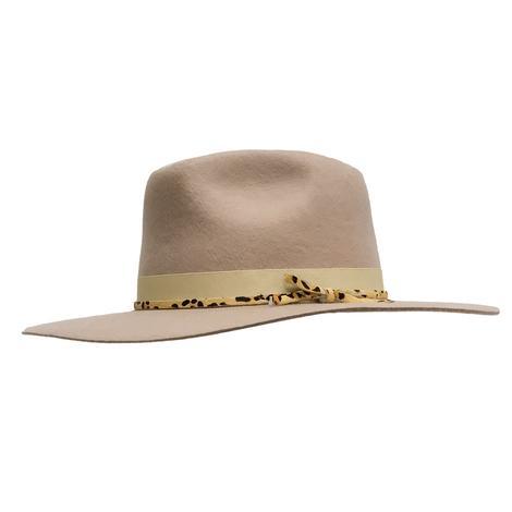 Wyeth Nelson Taupe Felt Hat