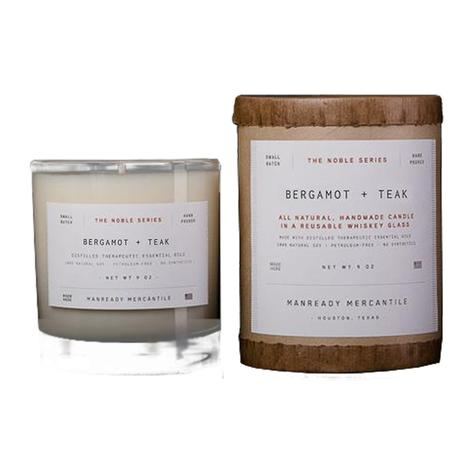 Manready Mercantile Noble Series Bergamot and Teak Scented Candle 9oz