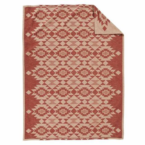 Pendleton Wool Organic Cotton Jacquard Blanket - Yuma Star Clay 60x70