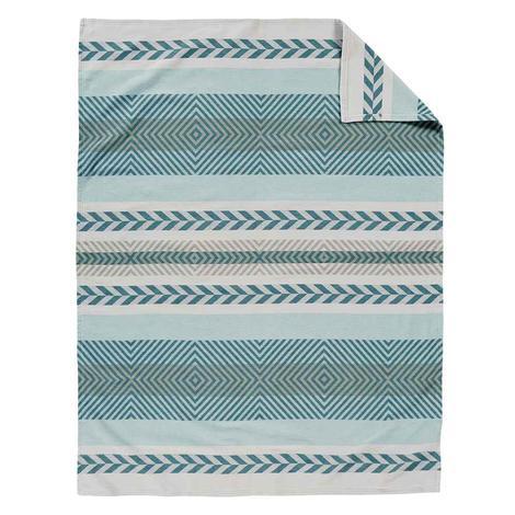 Pendleton Wool Organic Cotton Jacquard Blanket - Mojave Twill Sky 60x70