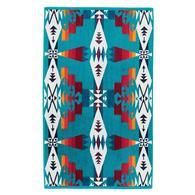 Pendleton Hand Towel Tuscon Turquoise 18x30