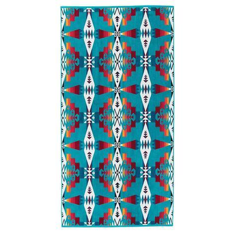 Pendleton Bath Towel Tuscon Turquoise 30x58