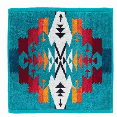 Pendleton Wash Cloth Tuscon Turquoise 13x13
