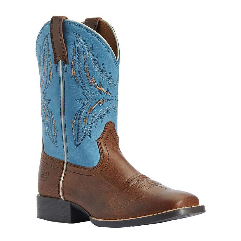 Ariat Arena Rebound Brown Wild Blue Boy's Boots
