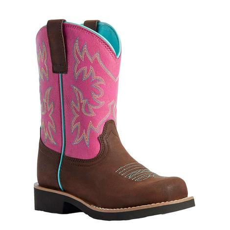 Ariat Jainey Pink Fatbaby Girl's Kid Boots