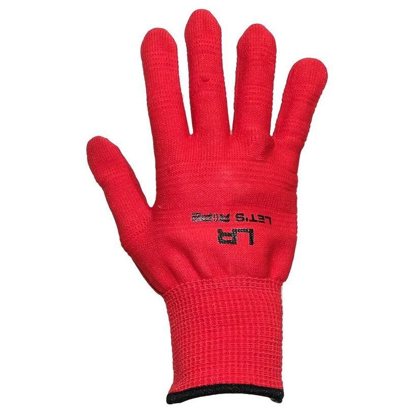 Let's Rope Roping Glove 12- Pack Red