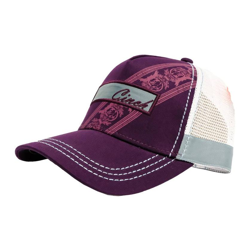 Cinch Purple White Grey Snap Back Meshback Cap