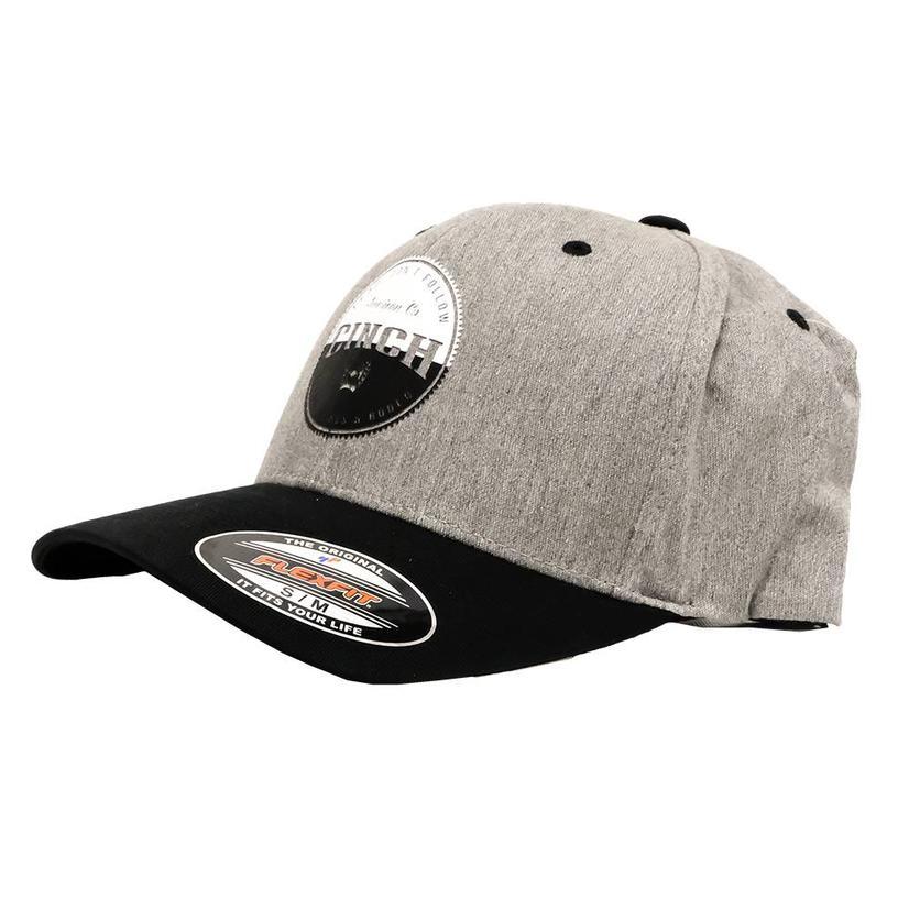 Cinch Fitted Flexfit Grey Black Gray Cap
